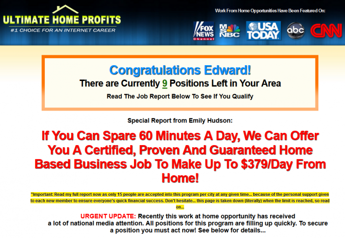 ultimate home profits scam