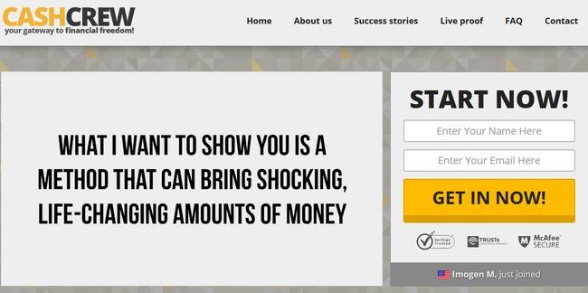 cash crew scam