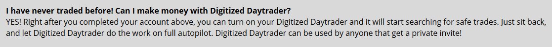 digitized daytrader scam