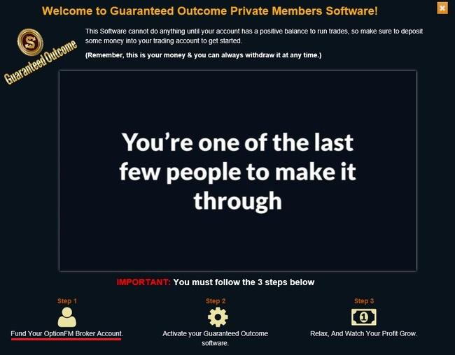 guaranteed outcome scam