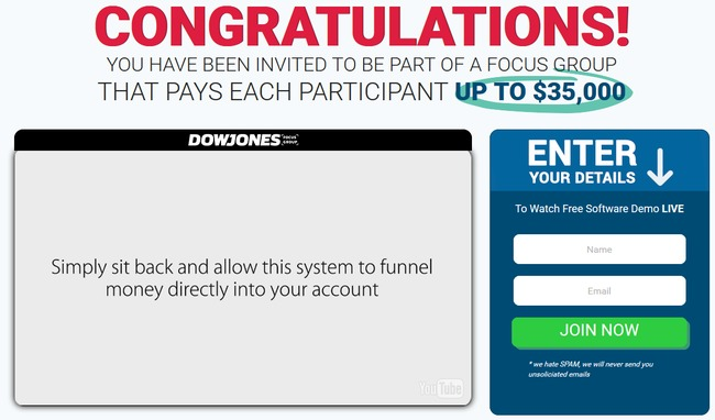 dow jones focus group scam
