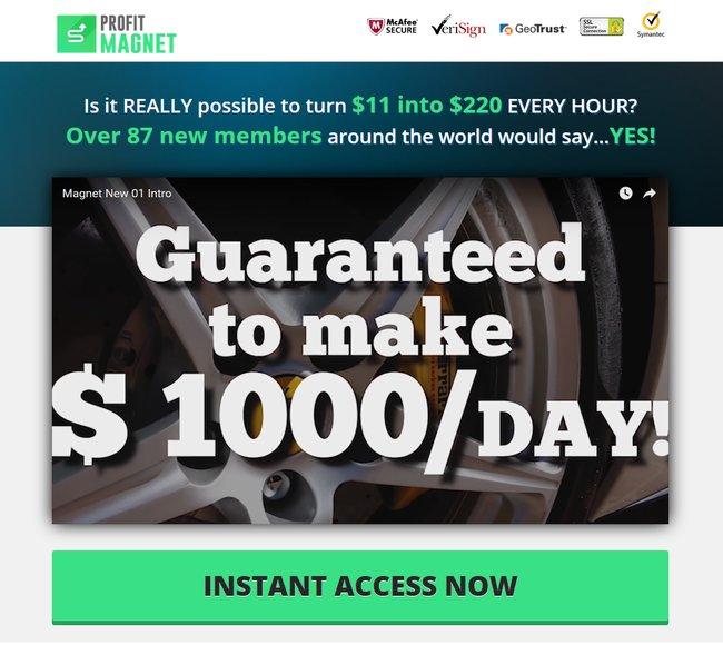 profit magnet scam