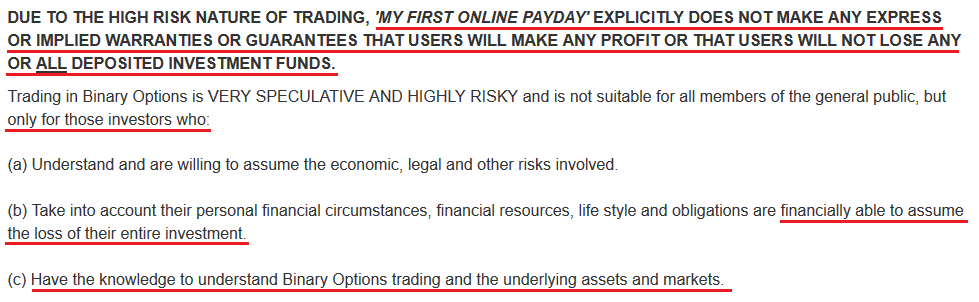 my first online payday scam