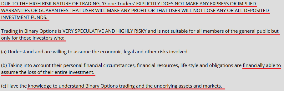globe traders scam review
