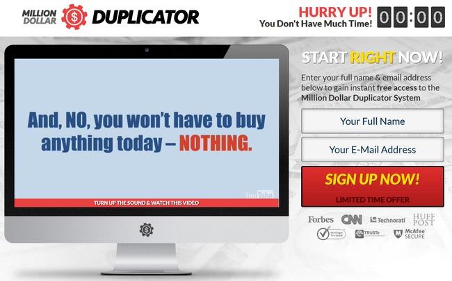 million dollar duplicator scam review