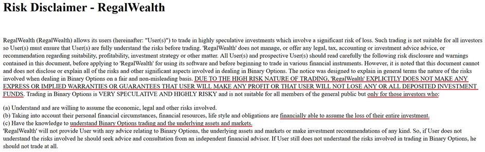 regal wealth scam review