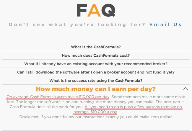 cash formula scam review
