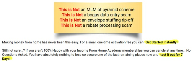 income from home academy review