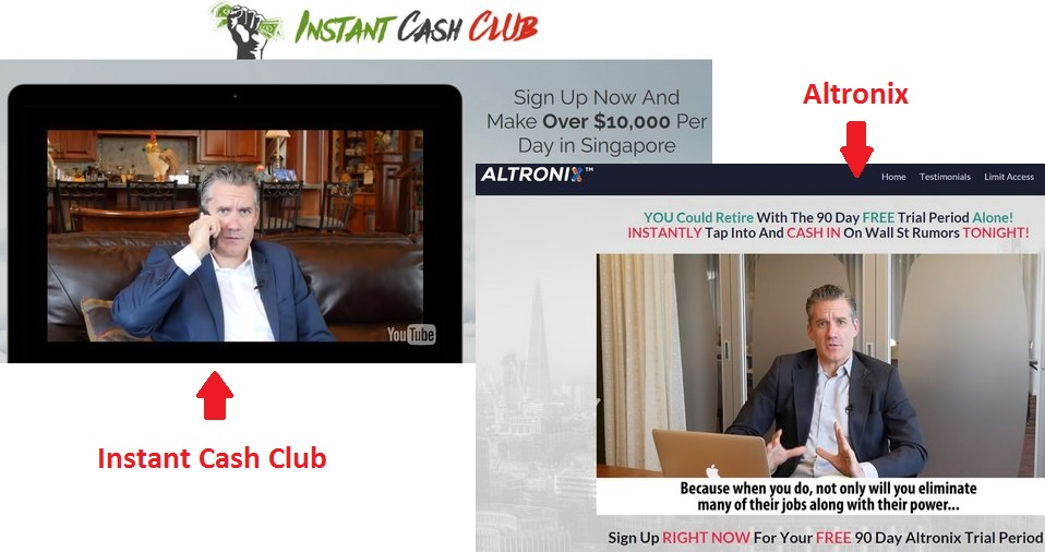 instant cash club scam review