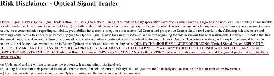optical signal trader scam review
