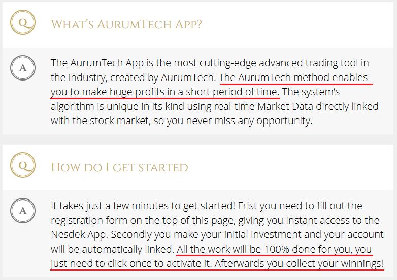 aurum tech scam review