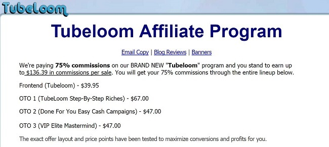 tubeloom review affiliate program