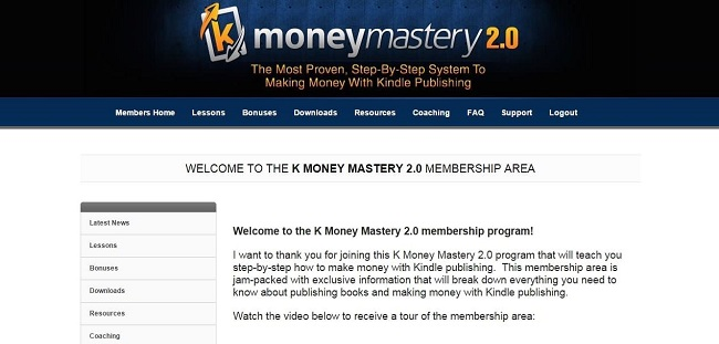 k money mastery 2.0 members home