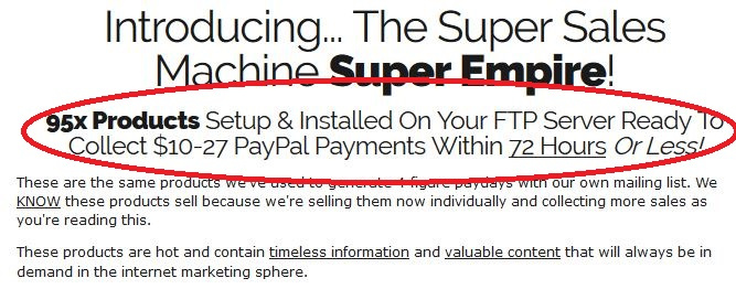 super sales machine quick profits
