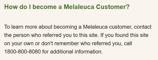 how to become melaleuca customer