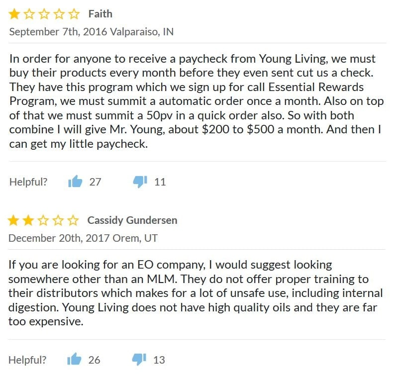 young living negative reviews